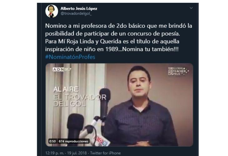 Pantallazo video twitter Alberto Lopez