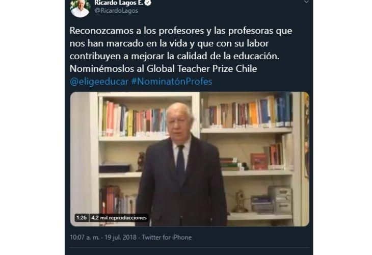 Pantallazo twitter Ricardo Lagos