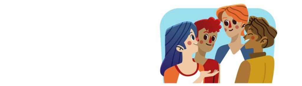 Ilustración de personas conversando