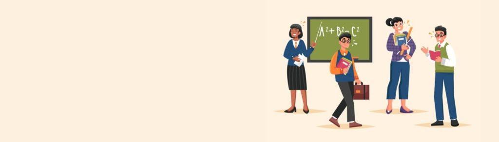 Ilustración de profesoras y profesores