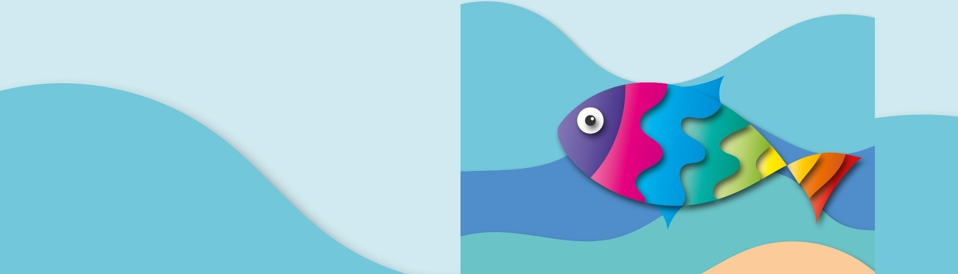 Imagen de un pez de muchos colores en el agua. Crédito: Pixabay.