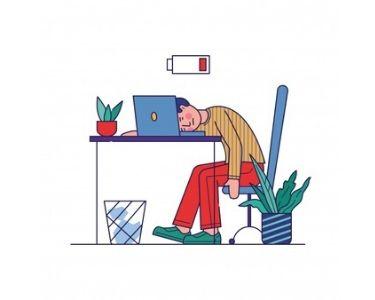 Ilustración de una persona aburrida