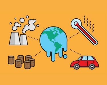 Ilustracion que muestra el cambio climatico