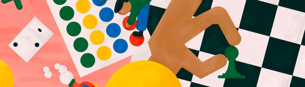 Ilustración de un juego de mesa