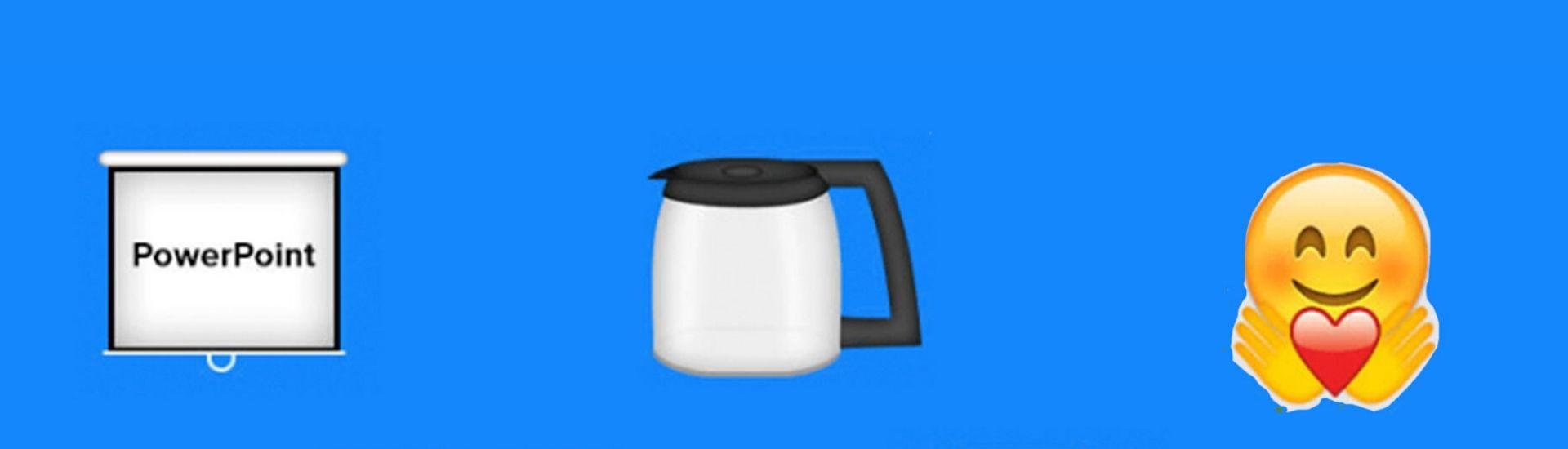 Imagen que muestra tres emoji