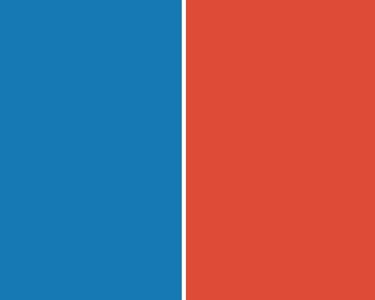 Imagen de dos colores, azul y rojo