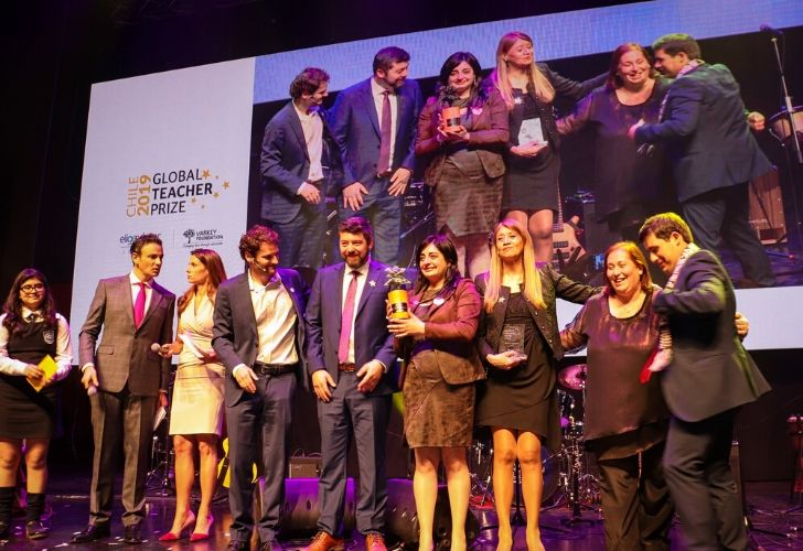 Ceremonia Global Teacher Prize y sus participantes