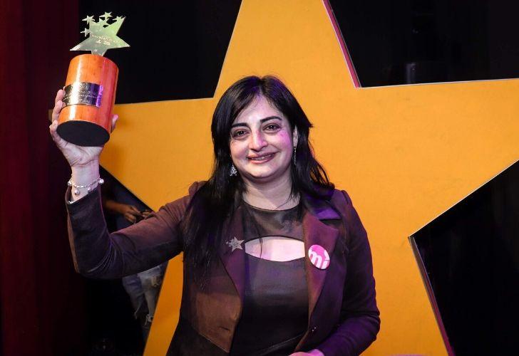 Nadia y su premio