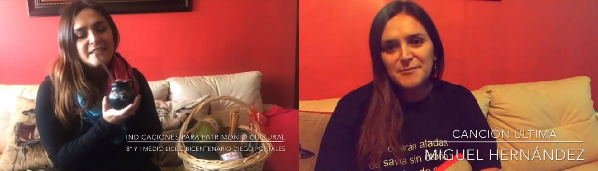 Profesora Claudia Rojas en su canal de YouTube mostrando alguno de sus videos.