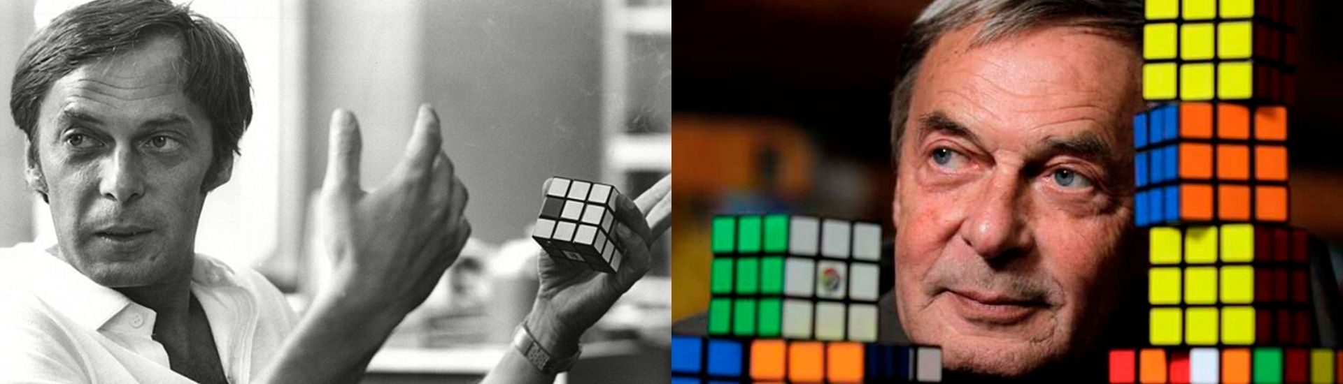 Dos fotos de Erno Rubik