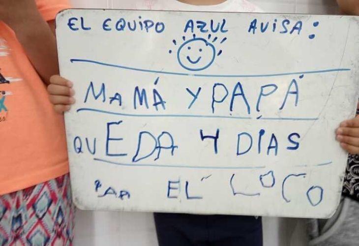 Foto de uno de los carteles creados en el evento