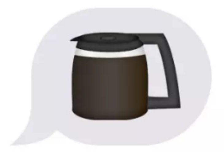 Imagen de emoji de cafetera llena
