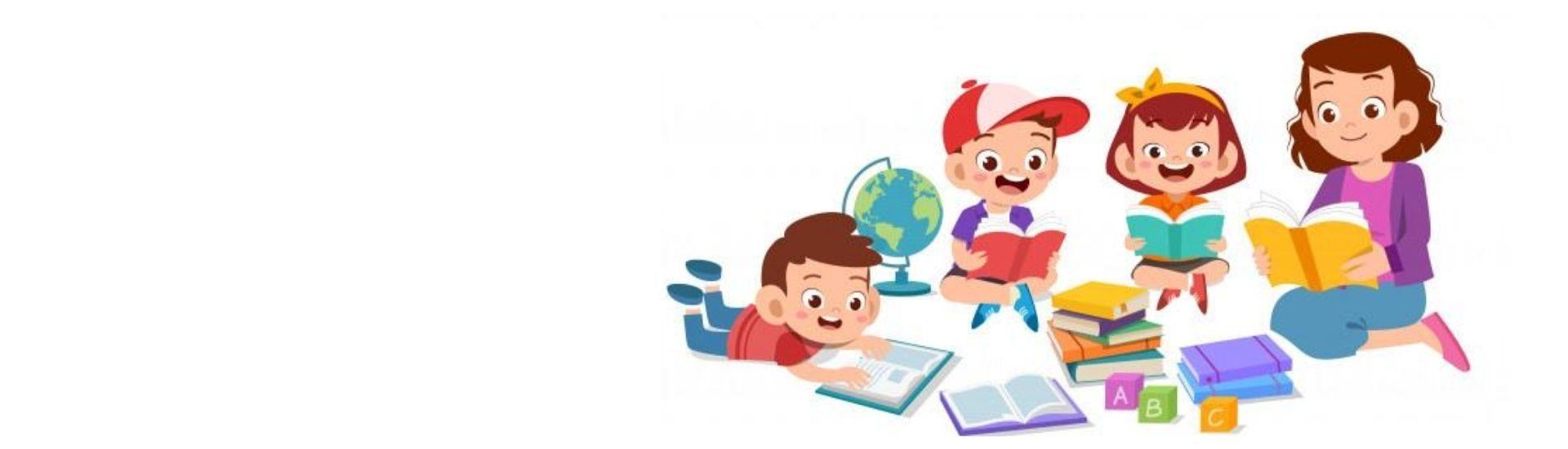 Niños y niñas aprendiendo, en conjunto con sus familias, a leer y escribir.
