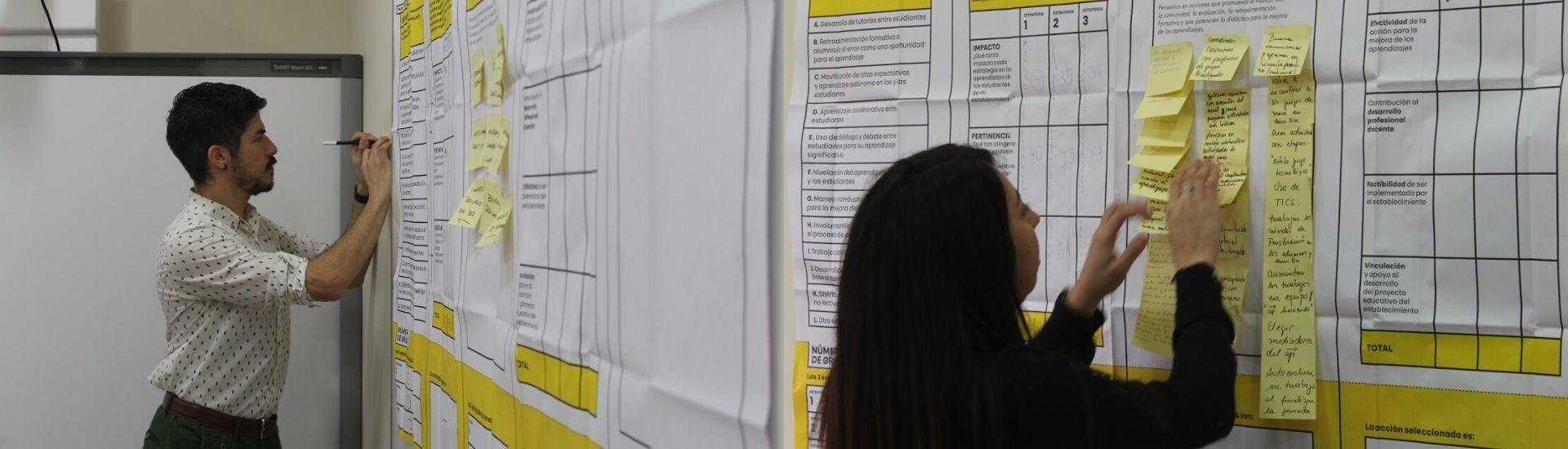 Dos fotos de personas participando de Ideas docentes