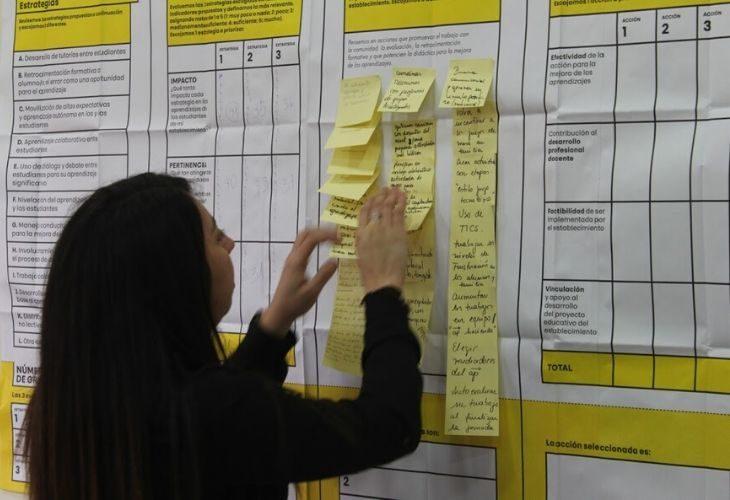 Foto de persona escribiendo en el lienzo que viene en el kit de trabajo