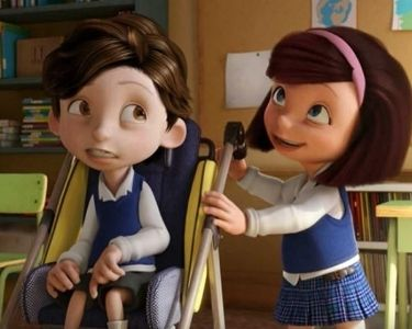 captura de pantalla de los protagonistas del cortometraje