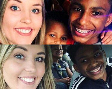 fotos de Chelsea Haley junto a dos chicos