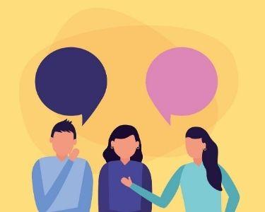 Ilustración de diálogo
