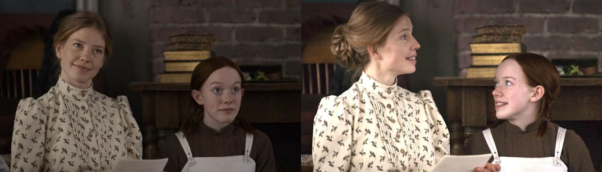 Imágenes de las actrices que interpretan a Muriel y a Anne