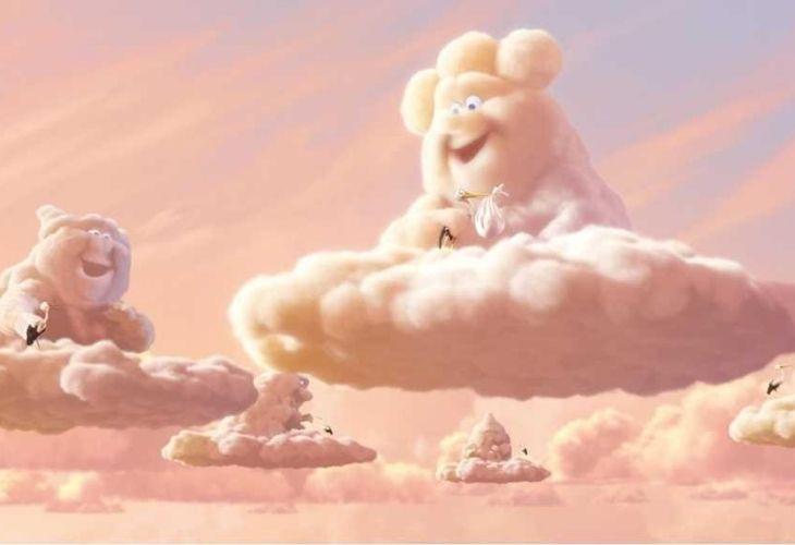 Captura de pantalla de las nubes del cortometraje