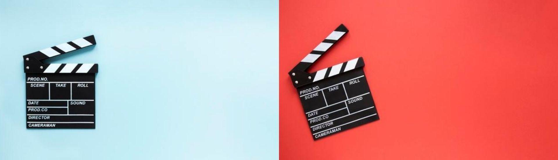 imagen de dos claquetas de cine