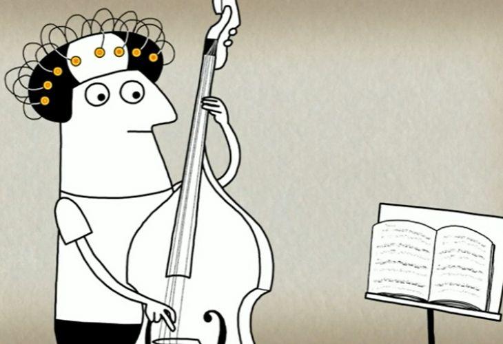 persona tocando musica mientras es estudiada