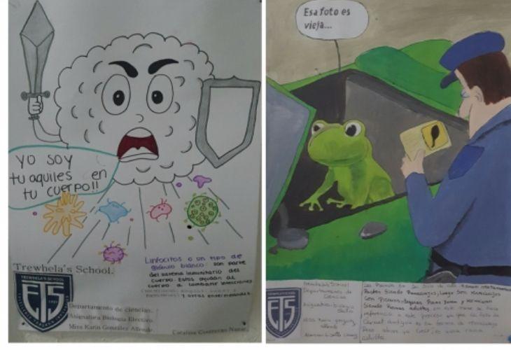 Evidencia trabajo de estudiantes de memes con relación a bilogía