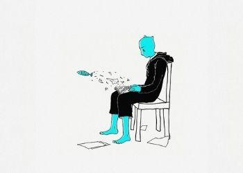 Ilustracion de una persona leyendo un libro, mientras salen peces. La ilustración es de Cdd20 en Pixabay