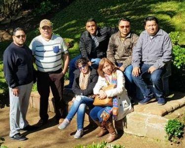 Docentes Mexicanos en un parque