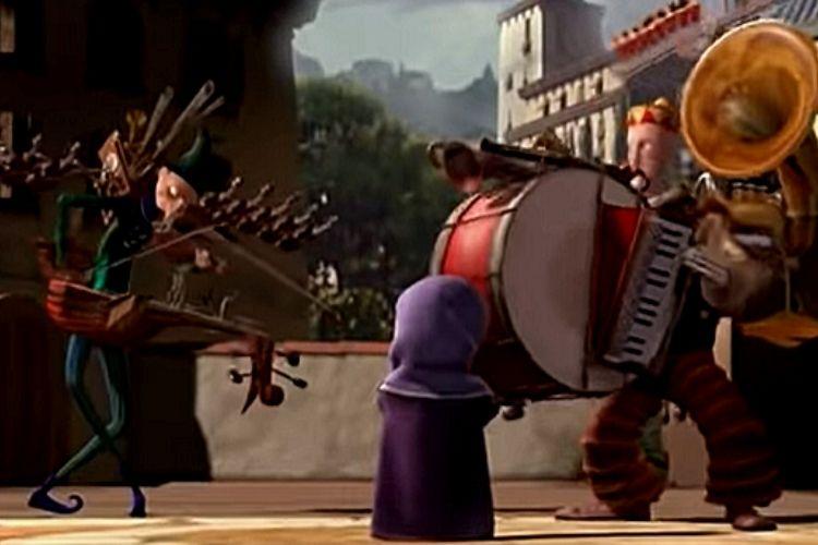 Los dos músicos enfrentándose en un conflicto musical