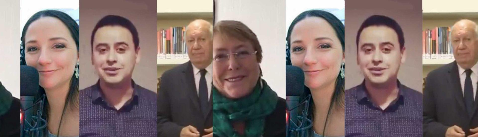 Michelle Bachelet, Andrea Aristegui,Alberto Lopez, Ricardo Lagos