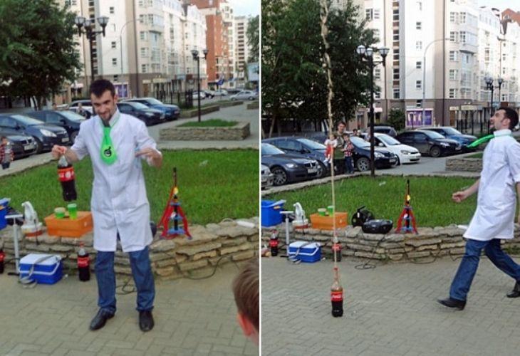 """Imagen de experimento """"fuente de coca cola"""""""