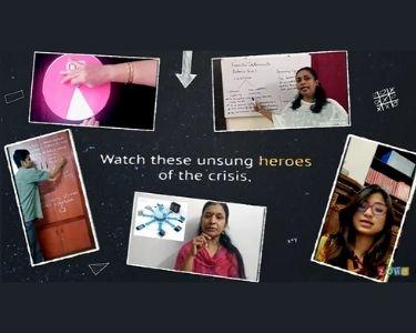 La imagen es una parte del video hecho por Zoho, en él, se ven varios docentes