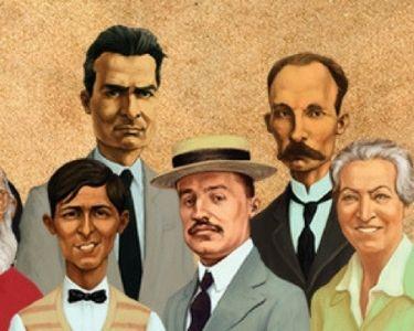 Ilustración maestros de latinoamerica