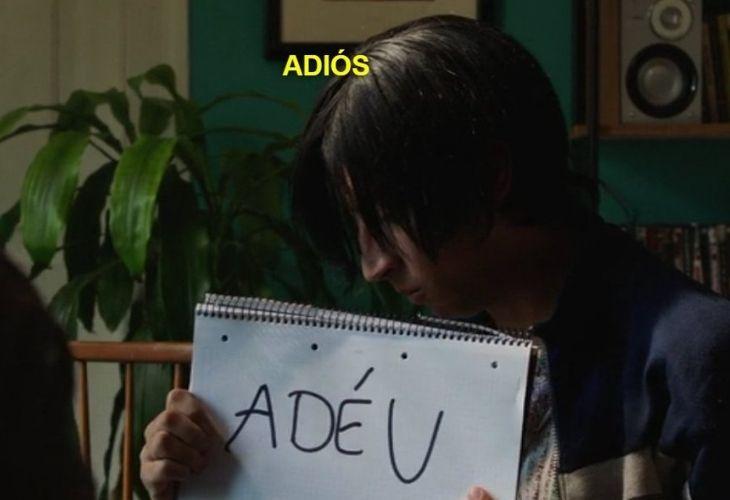 Iván Blasco, estudiante con principio de agorafobia durante una de las visitas de Merlí