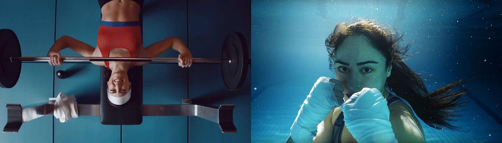 Dos fotogramas de los comerciales de Nike