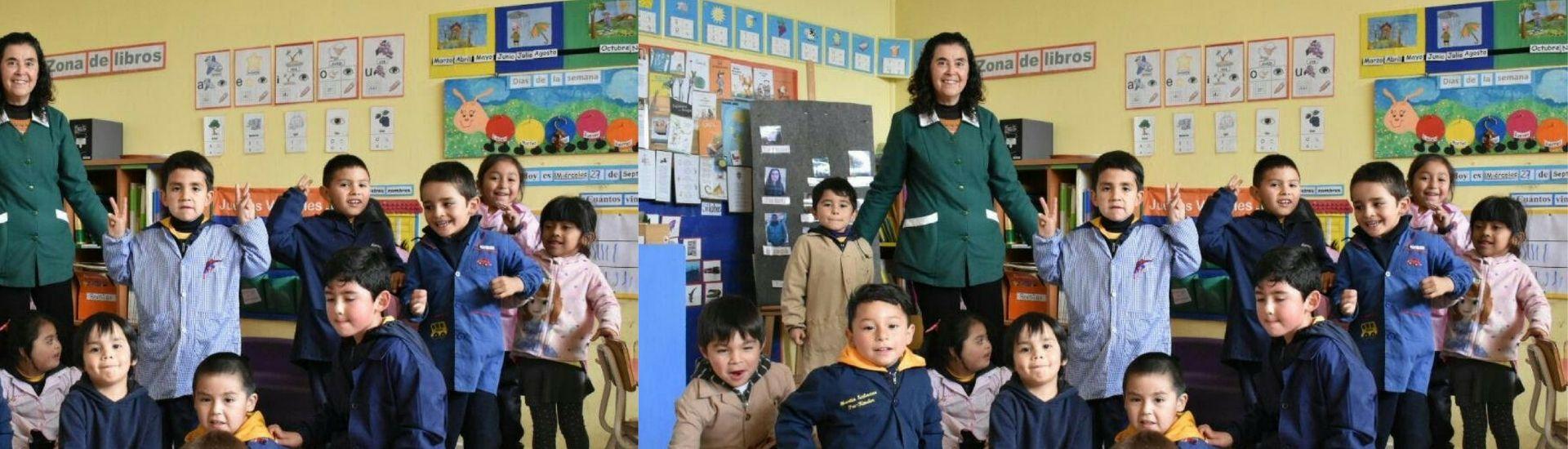 Beatriz Saavedra con sus estudiantes