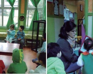 Educadoras planificando con estudiantes