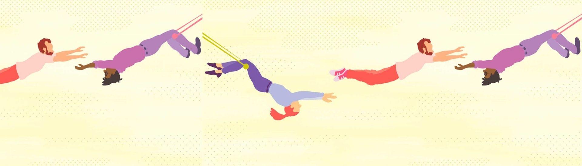 Ilustración de acrobacia