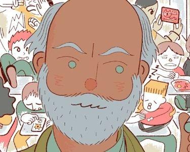 Ilustración de un profesor