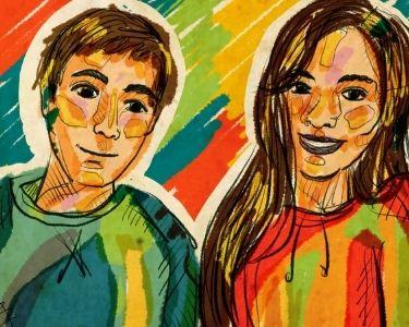 Ilustración de Nicolás y Romina