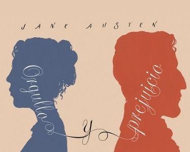 """En la ilustración se ve la silueta de los dos protagonistas de la novela, """"Orgullo y prejuicio""""."""