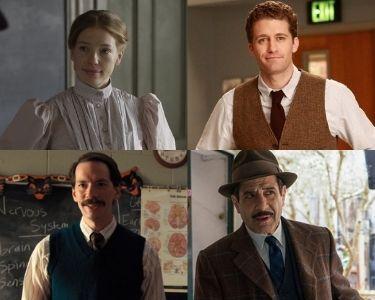 En esta imagen se ven cuatro de los cinco profesores, Muriel, Will, el señor Clark y el señor Weissmann