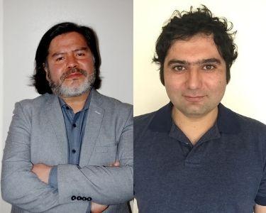 Retratos de los profesores de música Alex y Cristóbal
