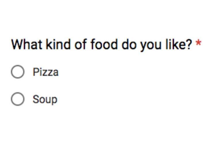 Encuesta creada en Google docs