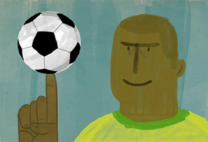 Ilustración jugador con pelota