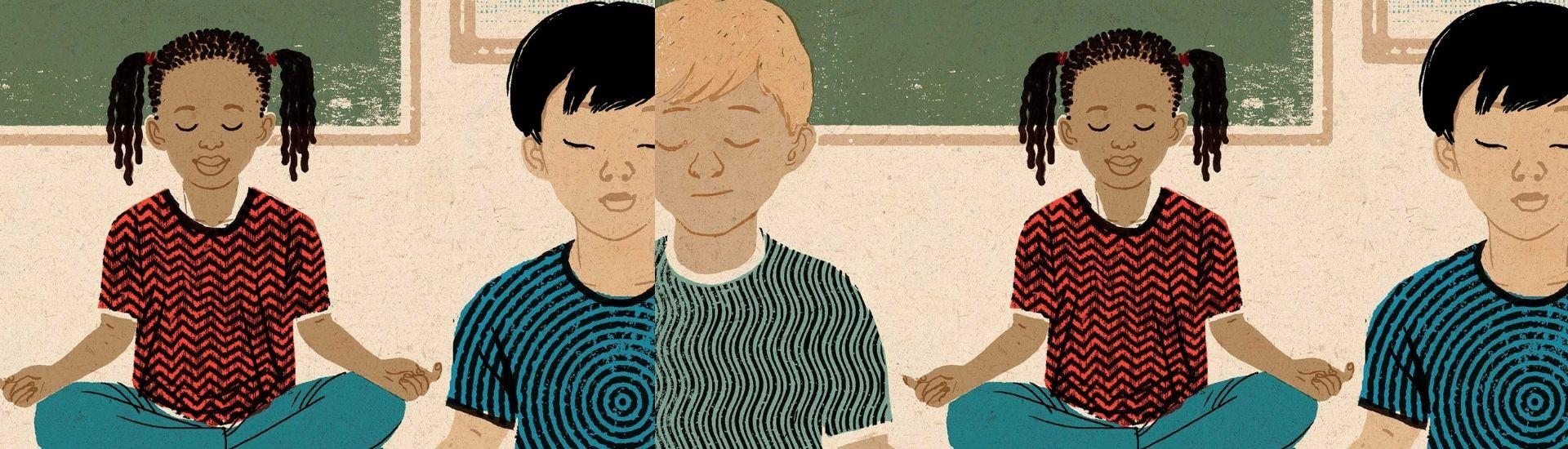 Ilustraciones niños meditando