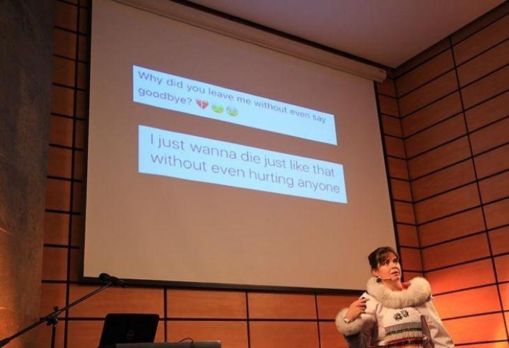 Maggie MacDonnell en GTP, exponiendo