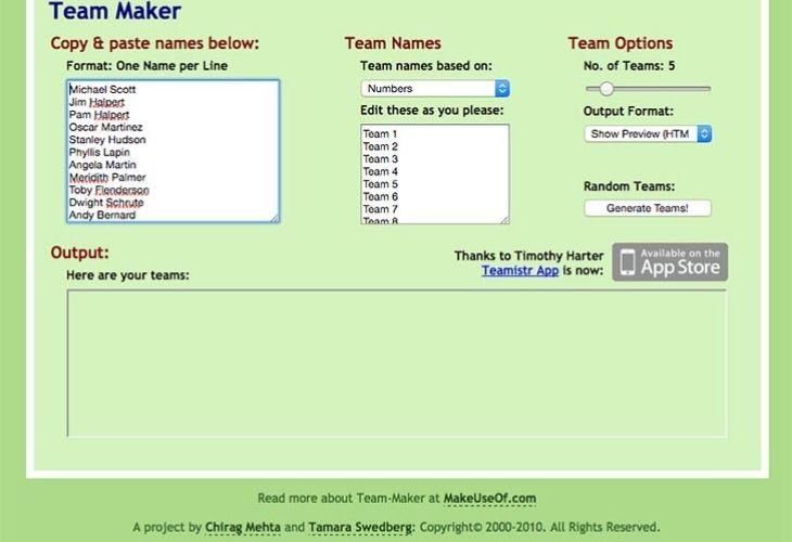 Team Maker