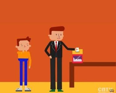 En la imagen se ve una parte del video del CNTV infantil, en donde hay dos personas votando, algo fundamental para la educación cívica
